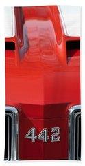 1970 Oldsmobile 442 Hood Emblem Beach Towel