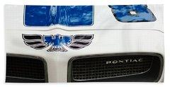 1970 Pontiac Firebird Grille Emblem Beach Towel