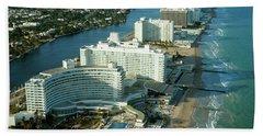 1970s Aerial View Hotel Row Miami Beach Beach Towel