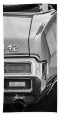 1971 Oldsmobile 442 Convertible Taillight Emblem -1683bw Beach Towel