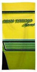 1972 Ford Gran Torino Sport Emblem Beach Towel