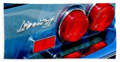 1974 Ferrari Dino Targa Gts Taillight Emblem Beach Towel