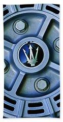 1974 Maserati Merak Wheel Emblem Beach Towel