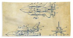 1975 Space Shuttle Patent - Vintage Beach Towel by Nikki Marie Smith