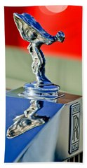 1976 Rolls Royce Silver Shadow Hood Ornament Beach Towel