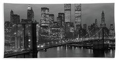 1980s New York City Lower Manhattan Beach Towel