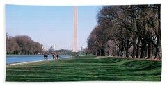 1980s Washington Monument Dc Usa Beach Towel