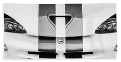 1998 Dodge Viper Gts-r Grille Emblem -0329bw Beach Towel