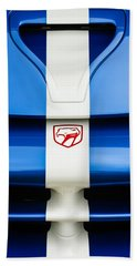 1998 Dodge Viper Gts-r Grille Emblem Beach Sheet by Jill Reger