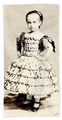 1865 Defiant American Girl Beach Towel by Historic Image