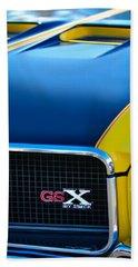 Beach Towel featuring the photograph 1970 Buick Gsx Grille Emblem by Jill Reger