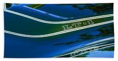 1970 Chevrolet Corvette Lt-1 Convertible Hood Emblem Beach Towel
