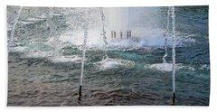 Beach Towel featuring the photograph A World War Fountain by Cora Wandel