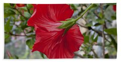 Abstract Hibiscus Beach Towel