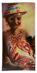 African Mother And Child Beach Towel