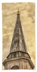 Aging Church Steeple Beach Towel by Gary Slawsky