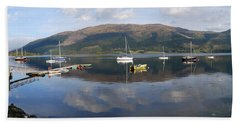 Beach Towel featuring the photograph Along Loch Leven 3 by Wendy Wilton