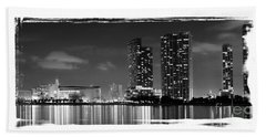 Beach Sheet featuring the photograph American Airlines Arena And Condominiums by Carsten Reisinger