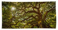 Angel Oak Beach Towel by Serge Skiba