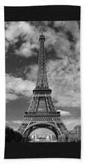 Architectural Standout Bw Beach Towel