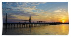 Beach Towel featuring the photograph Magical Blue Skies by Dale Powell