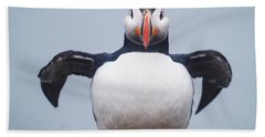 Atlantic Puffin Fratercula Arctica Beach Towel
