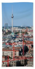 Berlin Cathedral And Tv Tower Beach Towel