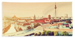 Berlin Germany View On Major Landmarks Beach Towel