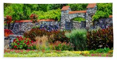 Biltmore Gardens Beach Towel by Savannah Gibbs