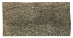 Birdseye Map Of Denver Colorado - 1887 Beach Sheet by Eric Glaser