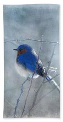 Blue Bird  Beach Towel