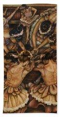 Bouquet Of Ballet    Beach Towel by Linda Simon