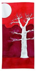 Canyon Tree Original Painting Beach Sheet
