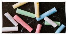 Chalk Pieces Beach Towel