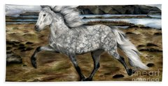 Charismatic Icelandic Horse Beach Towel by Shari Nees