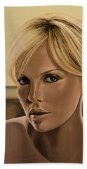 Charlize Theron Painting Beach Towel