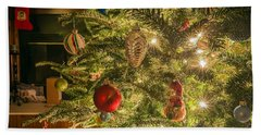 Beach Towel featuring the photograph Christmas Tree Ornaments by Alex Grichenko
