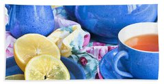 Do You Take Lemon? Beach Sheet by Theresa Tahara
