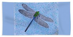 Beach Towel featuring the painting Dragonfly by Deborah Boyd