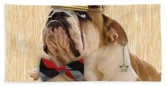 English Bulldog Bowtie Collection Beach Towel by Marvin Blaine