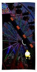 Fall Festival Ferris Wheel Beach Sheet by Deena Stoddard
