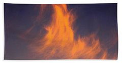 Beach Sheet featuring the photograph Fire In The Sky by Jeanette C Landstrom