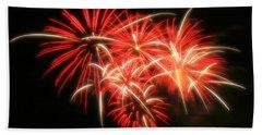 Fireworks Over Kauffman Stadium Beach Sheet