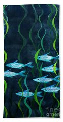 Fish Beach Sheet by Barbara Moignard