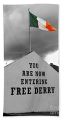 Free Derry Wall 1 Beach Towel