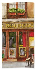French Storefront 1 Beach Towel