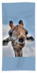 Beach Sheet featuring the photograph Giraffe  by Savannah Gibbs