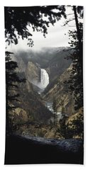 Grand Canyon Of The Yellowstone-signed Beach Towel by J L Woody Wooden