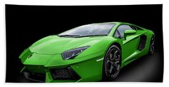 Green Aventador Beach Sheet