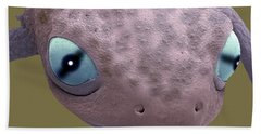 Head Of A Young Newt Sem Beach Towel
